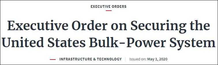 特朗普5月1日签署一项行政命令 白宫网站截图