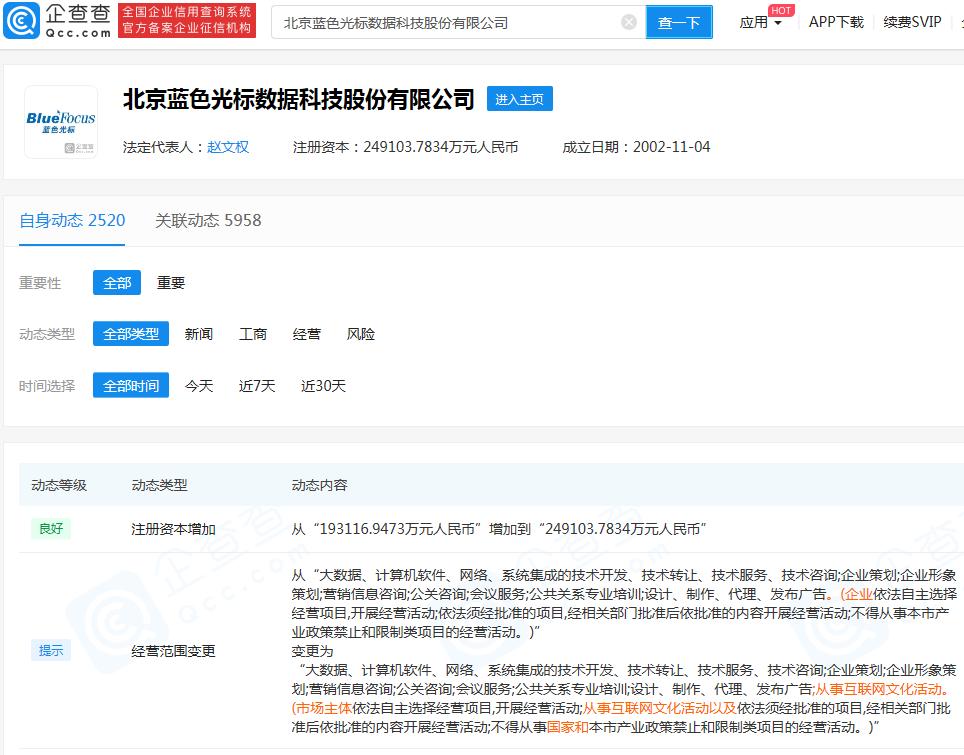 摩天平台:蓝色光标公司摩天平台注册图片
