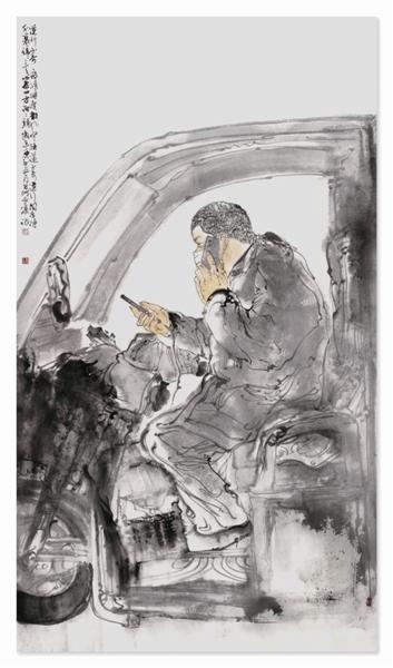 曹滨作品《逆行小哥》 入选省抗疫主题 美术书法精品展