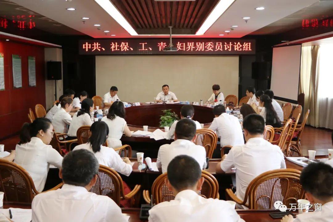 万年县委书记吴树俭参加中共、社保、工、青、妇界别分组讨论