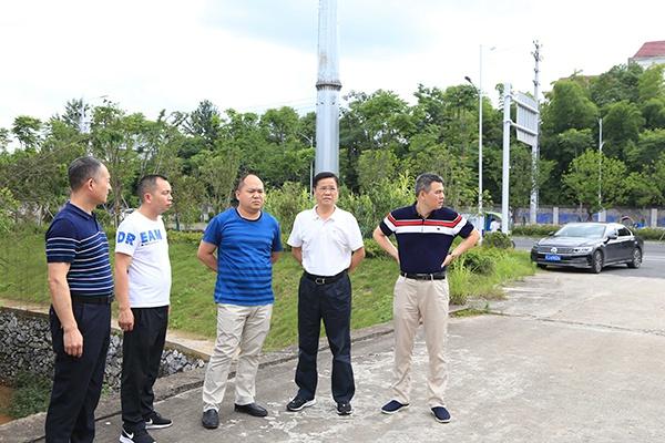 刘建中督导萍乡经开区防汛和地质灾害防治工作