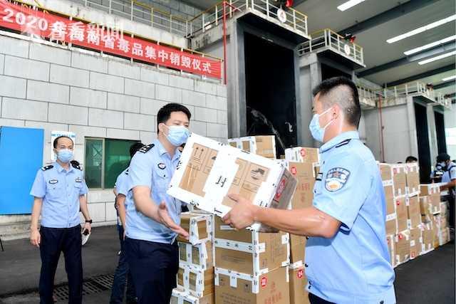 海南:集中销毁毒品1.725吨图片