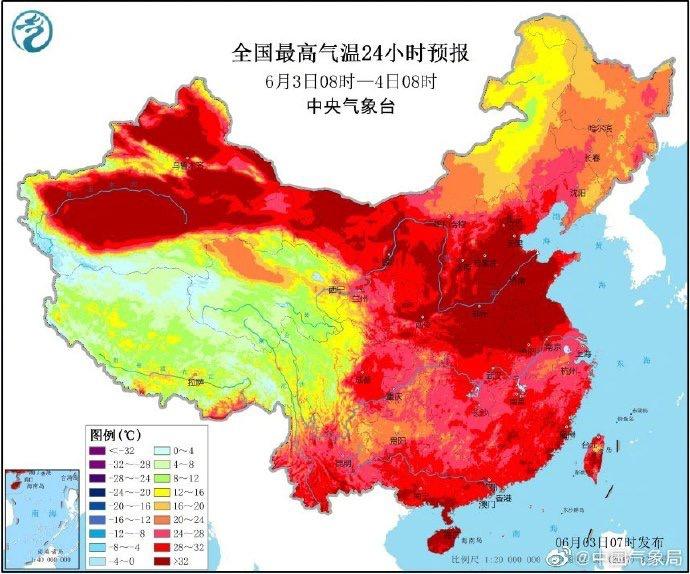 【摩鑫】北方将迎今年摩鑫来最大范围高温天图片