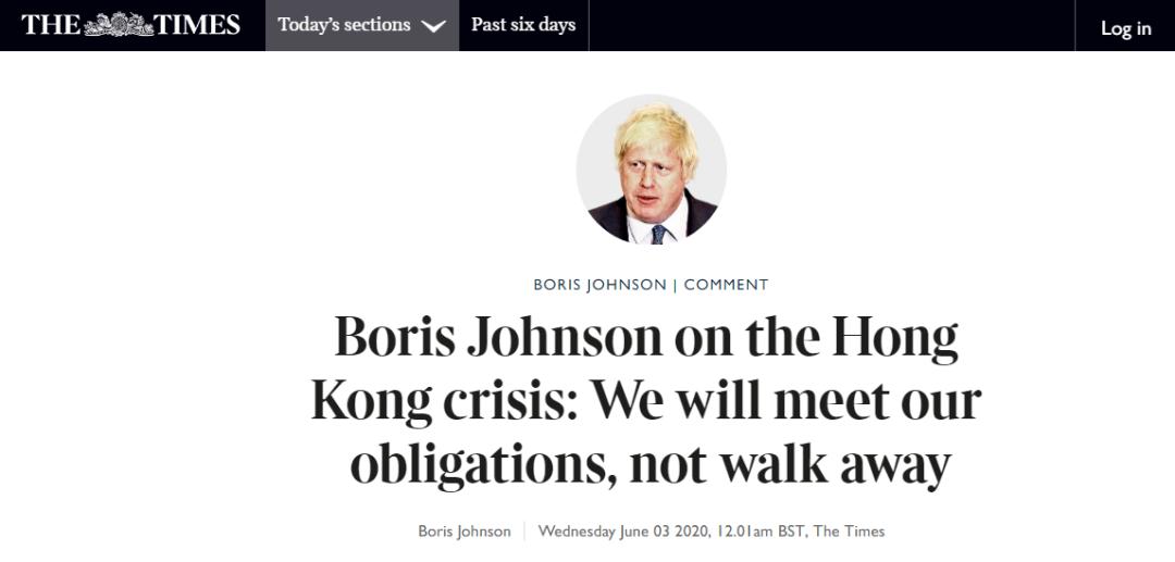 英首相发表涉港声明,英国人看了不爽了图片