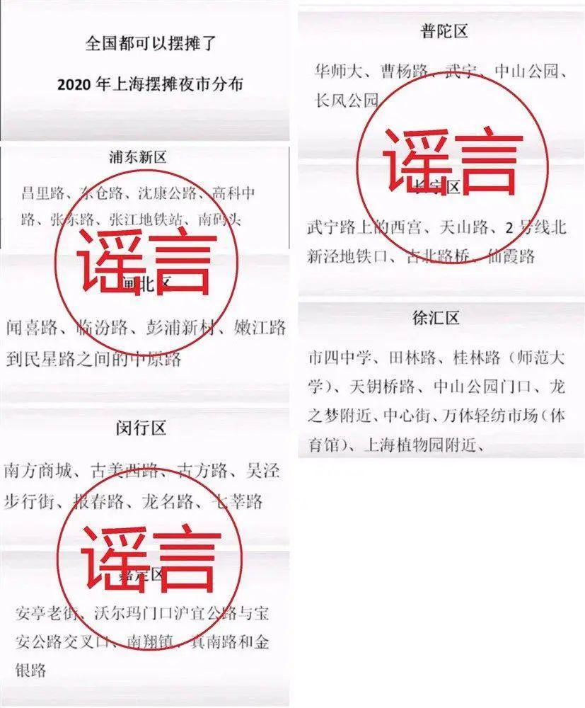 """这份""""上海摆摊夜市分布图"""",假的"""