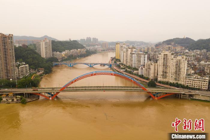 洪水围住梧州城。何汉文 摄