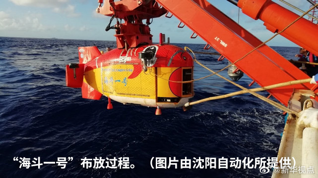 """10907米!""""海斗一号""""全海深潜水器完成万米海试图片"""