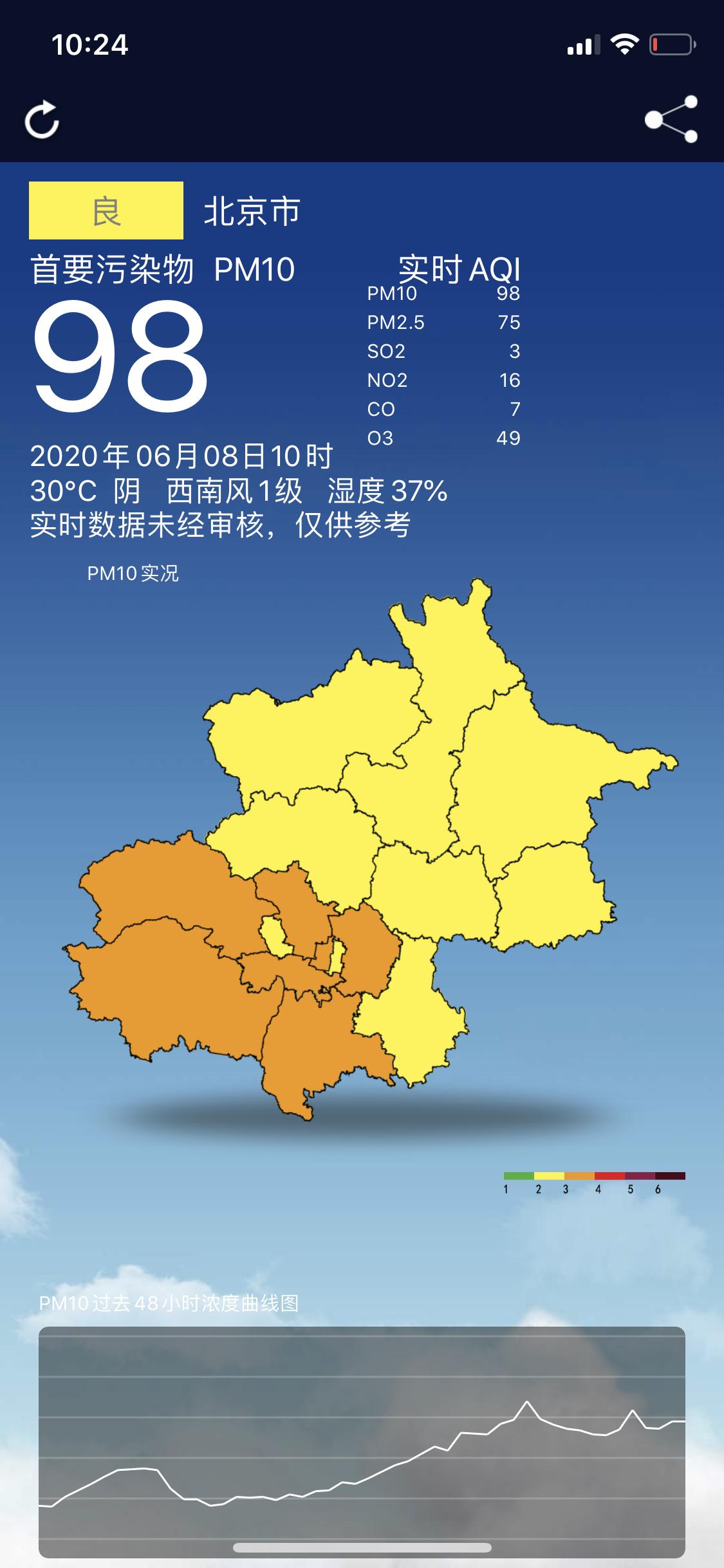 [华美]今晨北京局地中重度污华美染午后臭氧图片