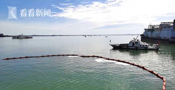 洋浦海事组织船舶应急演练图片