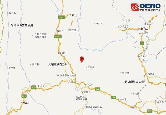 云南大理宾川县发生3.0级地震,震源深度9千米