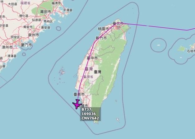 美军运输机飞越台湾岛 台军:没有降落图片