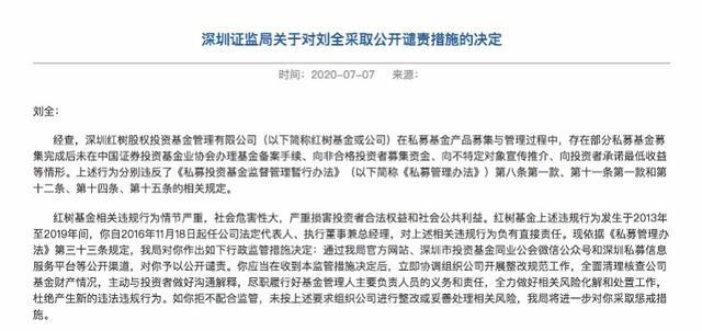 """深圳红树基金因4宗违规事宜收罚单,监管层称""""社会危害性大"""""""