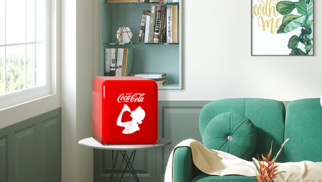 HCK哈士奇x可口可乐限量版小冰箱,复古潮流来袭