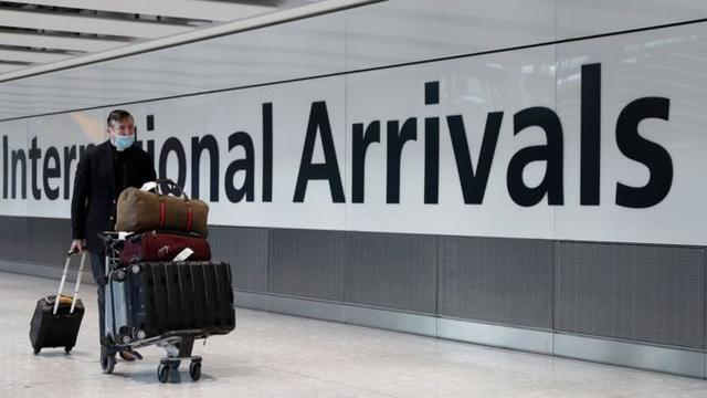 部分国家和地区旅客入境英格兰、威尔士和北爱尔兰将免隔离