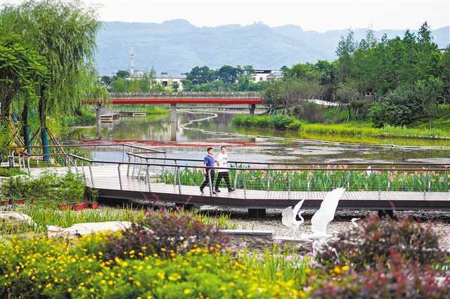 生态环境整治让苦竹溪水清岸绿