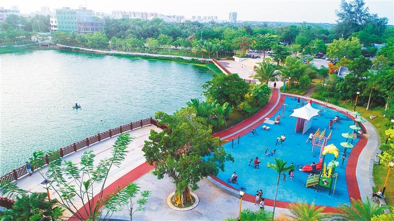 生态公园美 市民休闲乐-新华网海南频道