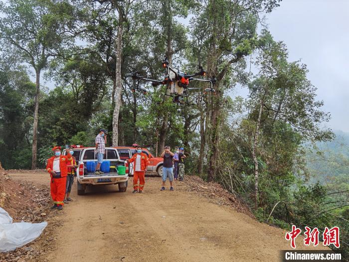 图为林草部分阻截防控黄脊竹蝗。云南省林草局供图