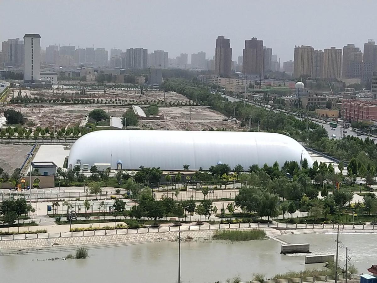 新疆阿克苏市全民健身中心完工