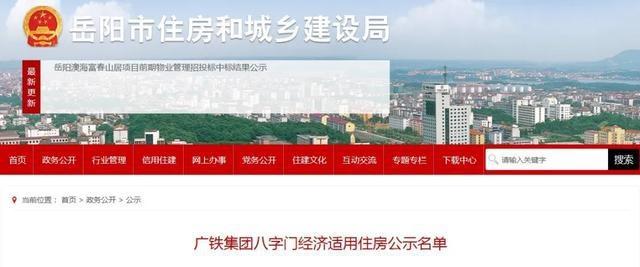 121户!岳阳最新一批经济适用住房名单公示