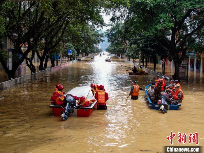 水县城遭遇超警杏悦5米洪水木船橡皮,杏悦图片