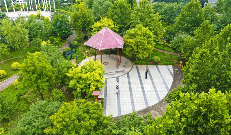 河北安平:游园建设提升城市品位