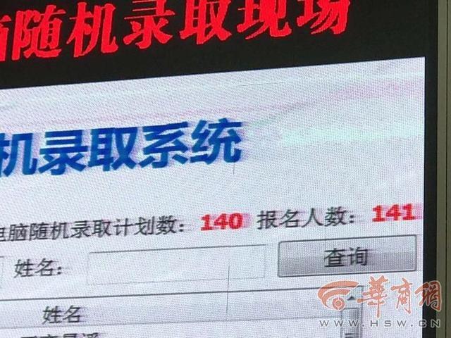 西电附中太白校区报名141人只录140人 网友:为何有点伤感?