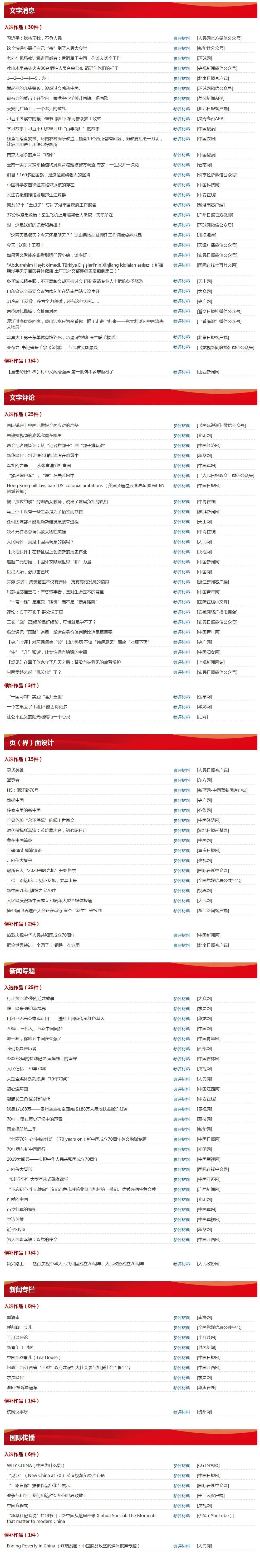 """第30届中国新闻奖""""网络新闻作品""""初评结果公示"""
