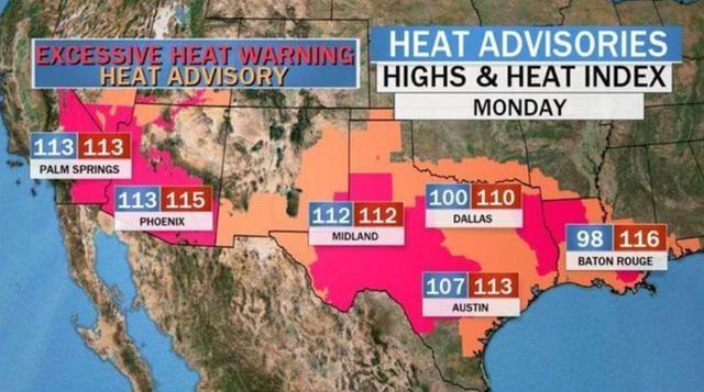 超强热浪席卷美国,加州死亡谷温度达53.3 ℃,逼近地球历史峰值