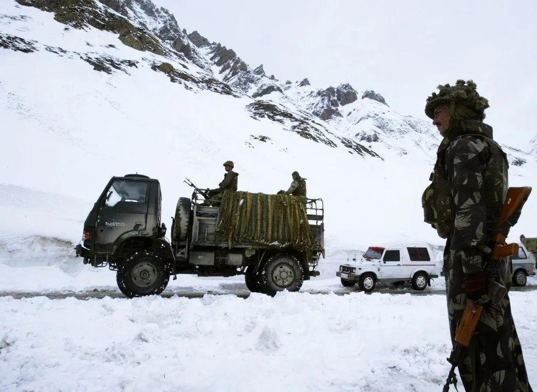 印度边界驻军。图源:美联社