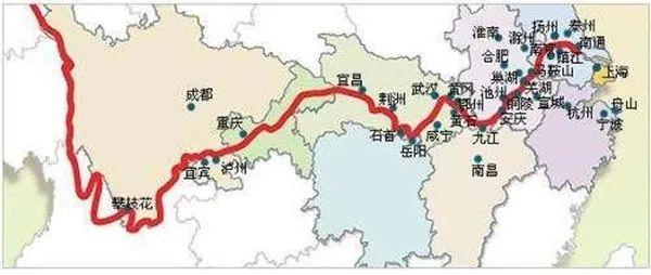 ▲长江流域水系图