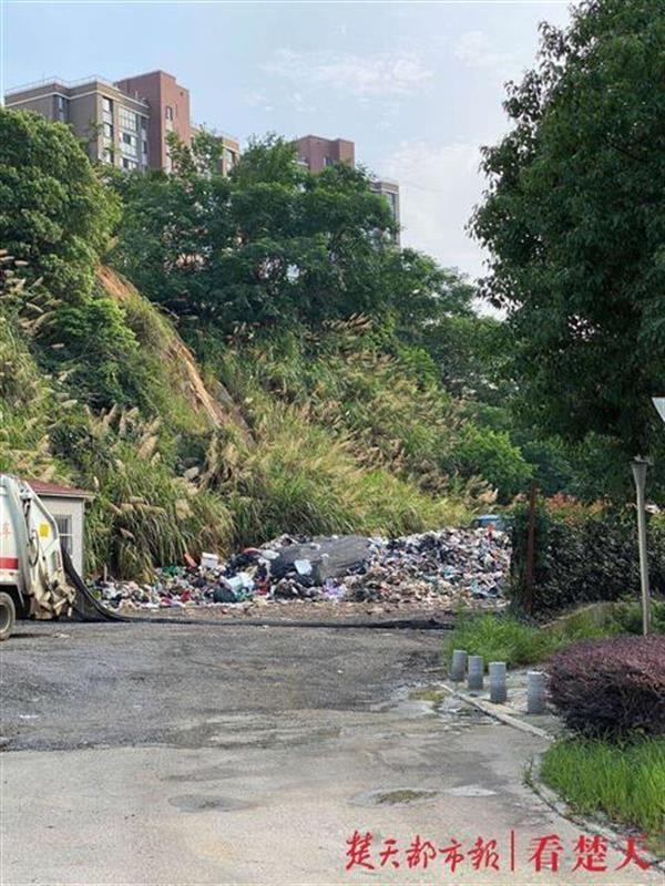 保洁公司临时工作点堆放垃圾引发投诉,城管部门称已责令整改