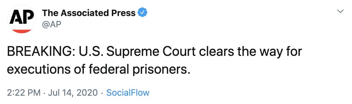 美国最高法院已为恢复死刑扫清障碍