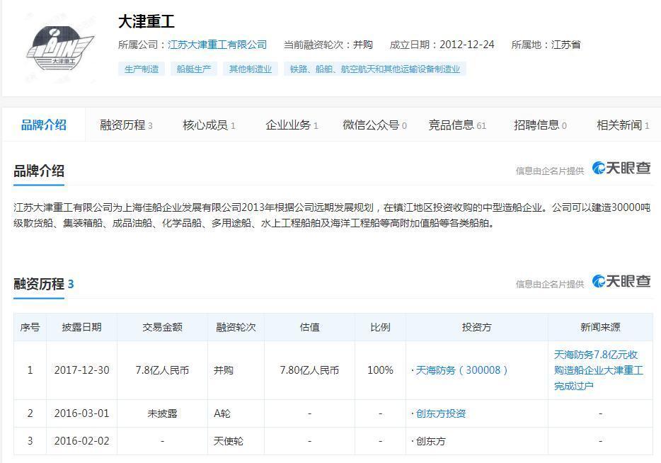 天海防务:子公司中标5944.5万元风电工艺驳船项目