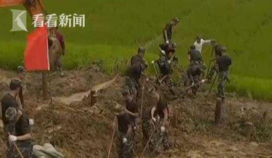 视频|安徽枞阳:圩堤出现滑坡险情 武警战士紧急救援图片