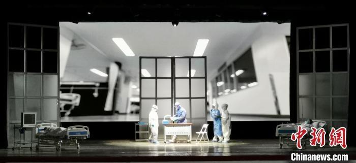 话剧《逆行而上》。山西省话剧院供图