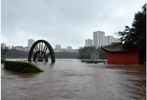 重庆连发水情预警 开州区东河预计将超保证水位图片
