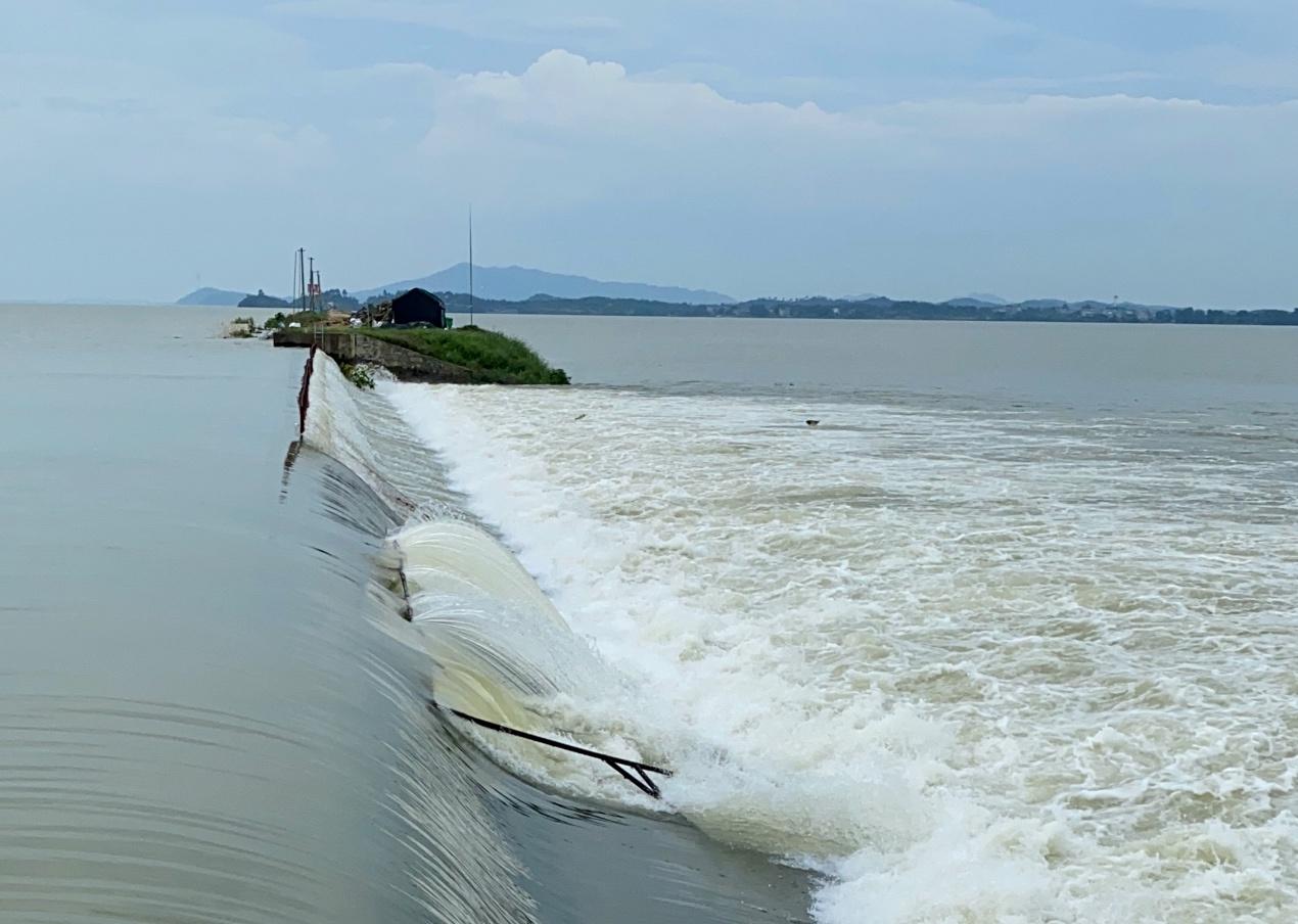 鄱阳湖区单退圩堤行洪 村民:若洪水不退今年就绝收图片