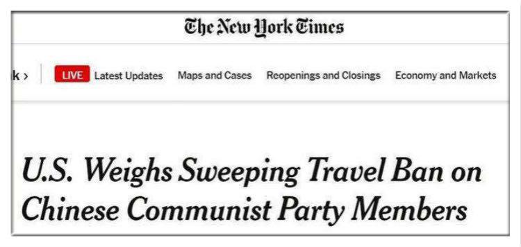 """放风""""禁止中共党员入境"""" 美国究竟在唱哪出?图片"""