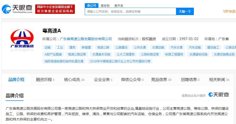 粤高速A:筹划重大资产重组 或将控股母公司优质路产广惠公司