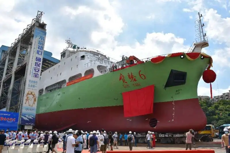 「杏悦」6杏悦号科考船成功下水我国海洋科考又添利图片