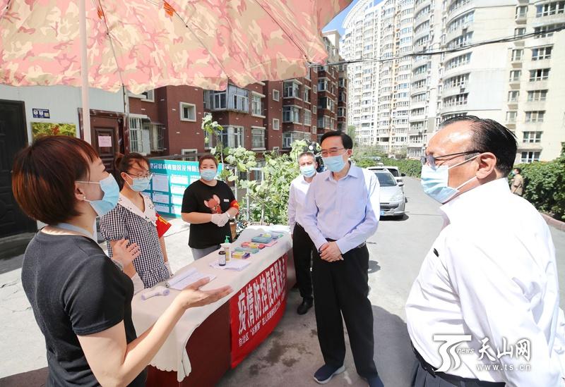 「杏悦」全国雪克来提-扎克尔在杏悦乌鲁木齐调研检查图片