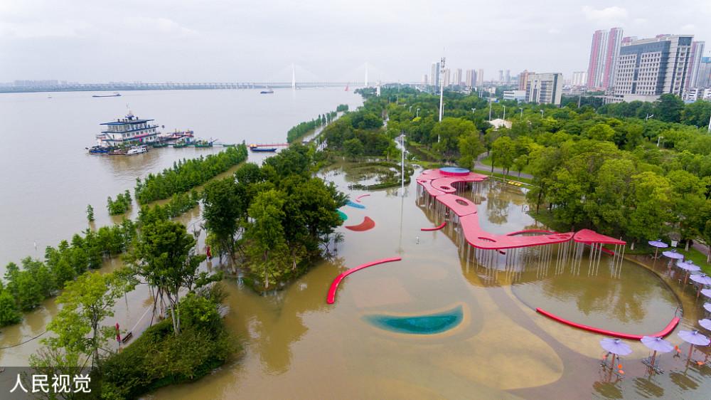 武汉关水位止落复涨,长江2号洪水预计4至5天抵汉图片