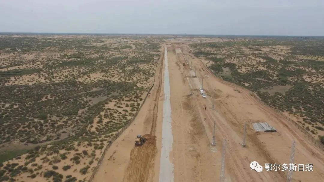 鄂尔多斯又一重要煤炭铁路专运线开始铺轨
