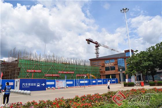 【发现最美铁路·云桂脱贫风景线】云南:弥勒高铁站扩建主体工程过半