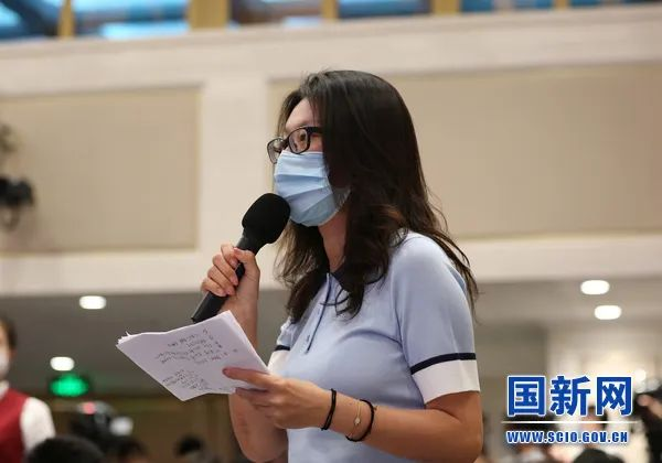 香港大公文汇传媒集团记者提问(图源:国新网)