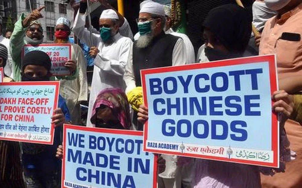 印度民间泛起抵抗中国产物的声音(图源:印媒)