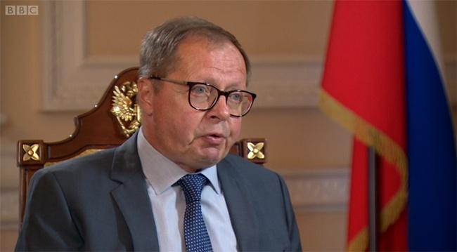 俄驻英大使安德烈·科林,BBC视频截图