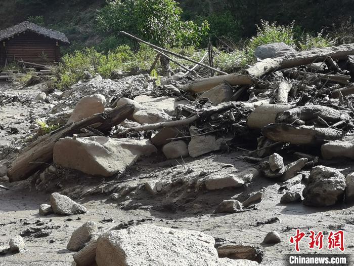 凉山州木里县项脚蒙古族乡项脚村阿牛窝子组灾后现场。(四川省自然资源厅供图)