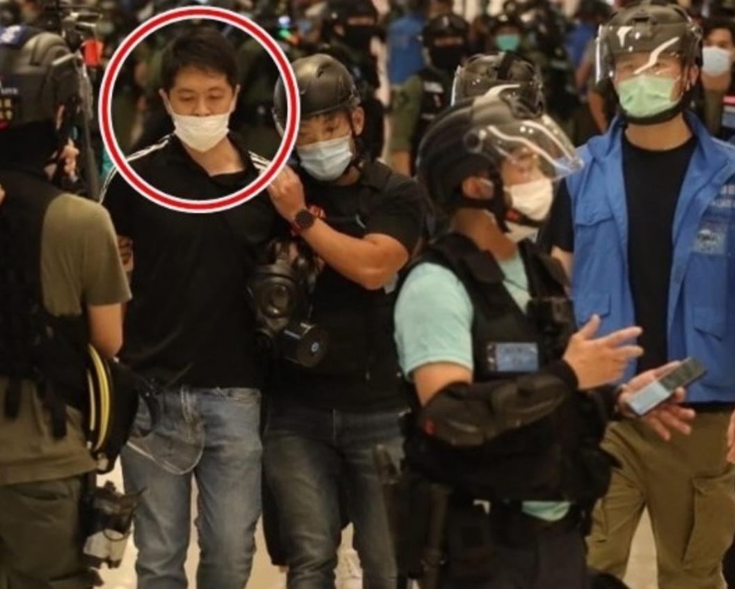 许智峰涉阻差办公被捕 图源:香港东网