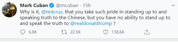 美反华政客发疯逼NBA亿万富豪骂中国,对方回得痛快!